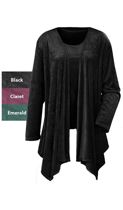 Velour Shawl Jacket