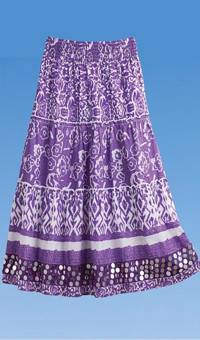 Festive Sequined Skirt