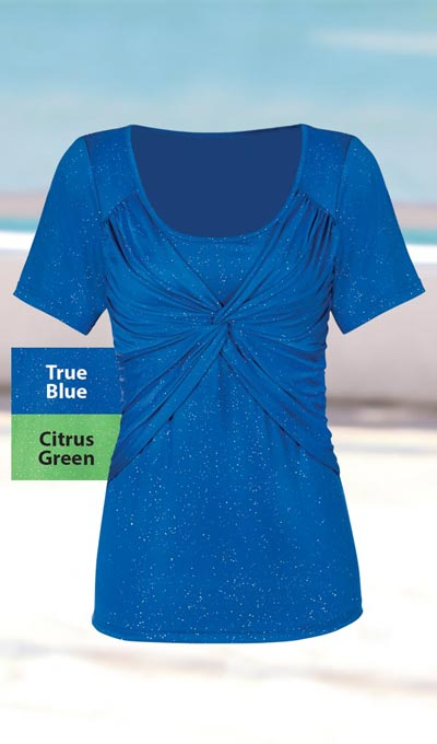 Enhancing Criss-Cross Sparkle Top