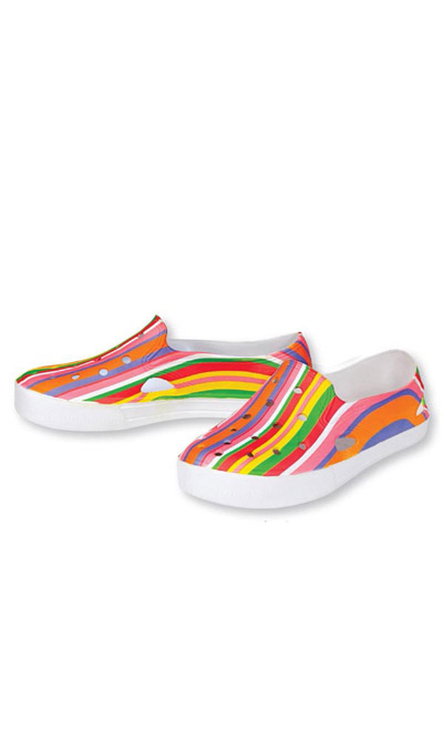 Soft Striped Loafers