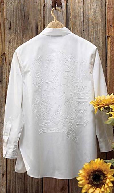 Lavishly Embroidered Big Shirt