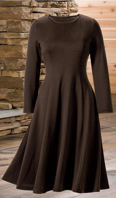 Feminine Flare Ponte Dress