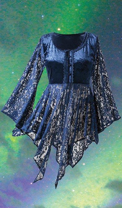 Crushed Velvet & Lace Jacket