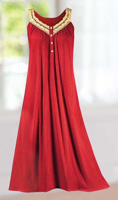 Golden Goddess Nightgown