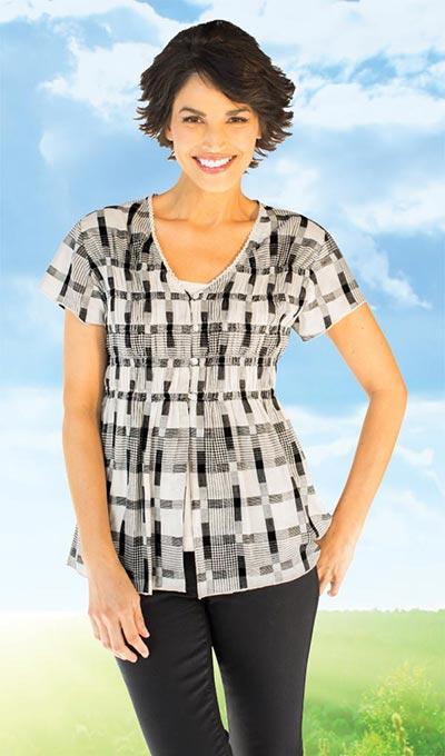 Plaid Shirt & Cami Set