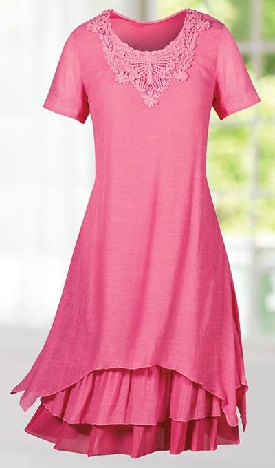 Lavish Lace Appliqué Dress