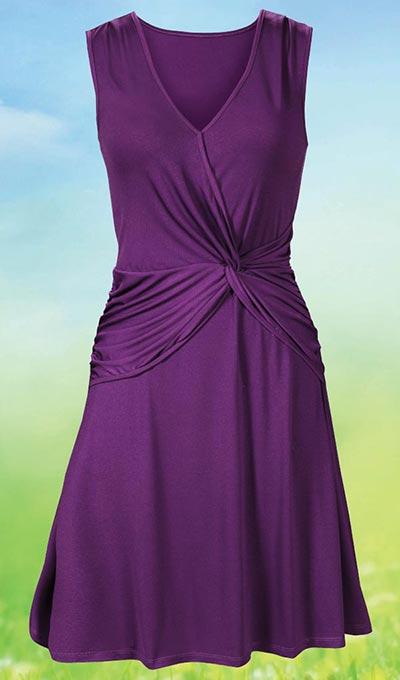 Faux Wrap Twist Dress