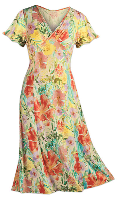 Tropical Paradise Crossover Dress