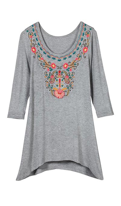 Embroidered Gardens Tee