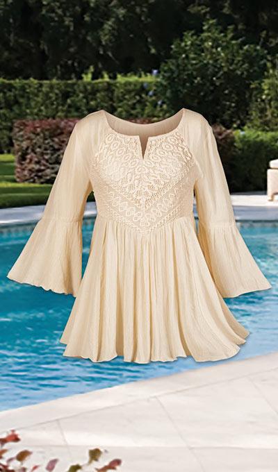 Beautiful Bell-Sleeve Blouse