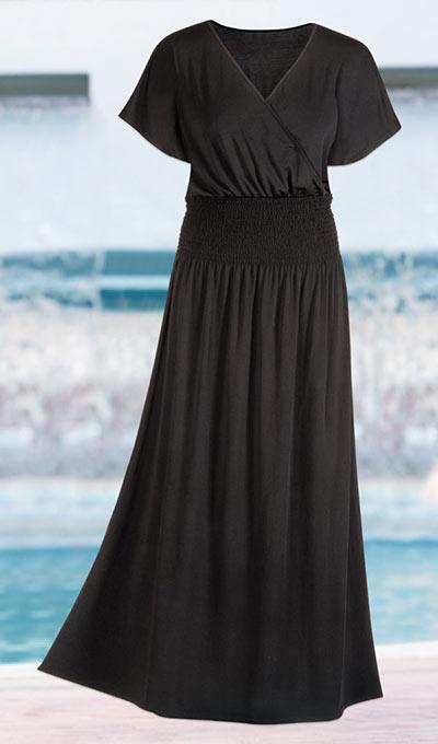 Smocked Kimono Sleeved Dress