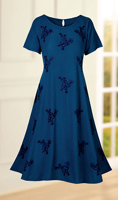 Flowy Embroidered Dress