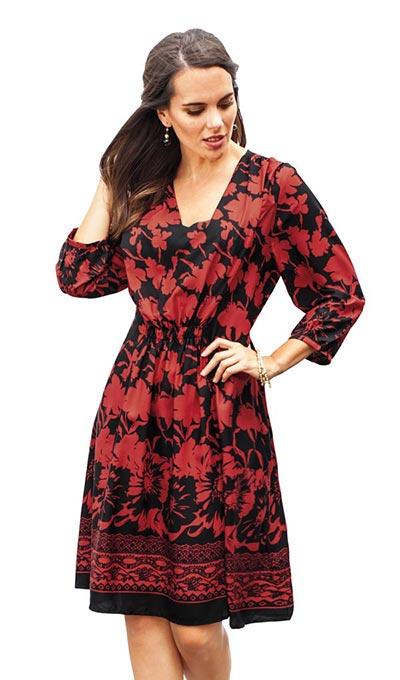Poppy Silhouettes Dress