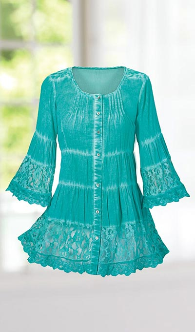 Romantic Lace Tiered Tunic