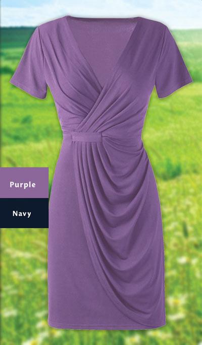 Delightful Faux Wrap Dress