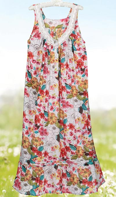 Colourful Blooms Nightgown